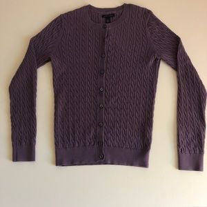 Tommy Hilfiger Purple Knit Cardigan